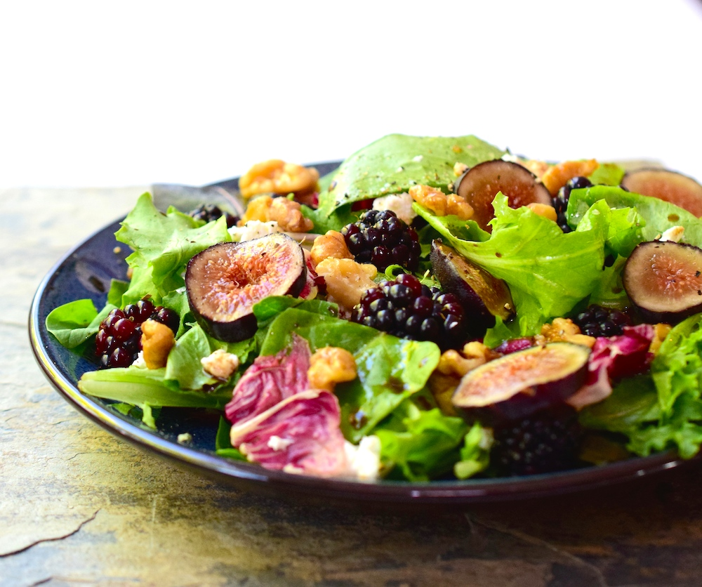 Fig and Blackberry Salad with Candied Walnuts • Great Food and ...