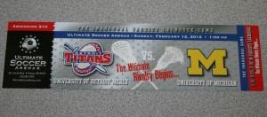 University of Detroit Mercy Titans Michigan Wolverines lacrosse ticket