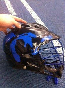 Grand Valley State University lacrosse helmet