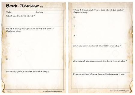 Book Review Template - book reviews template
