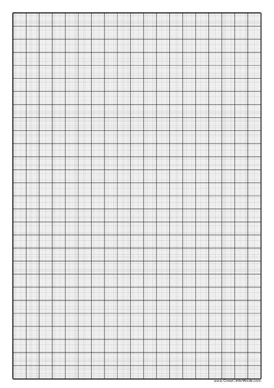Graph Paper to Print - 1mm Squared Paper