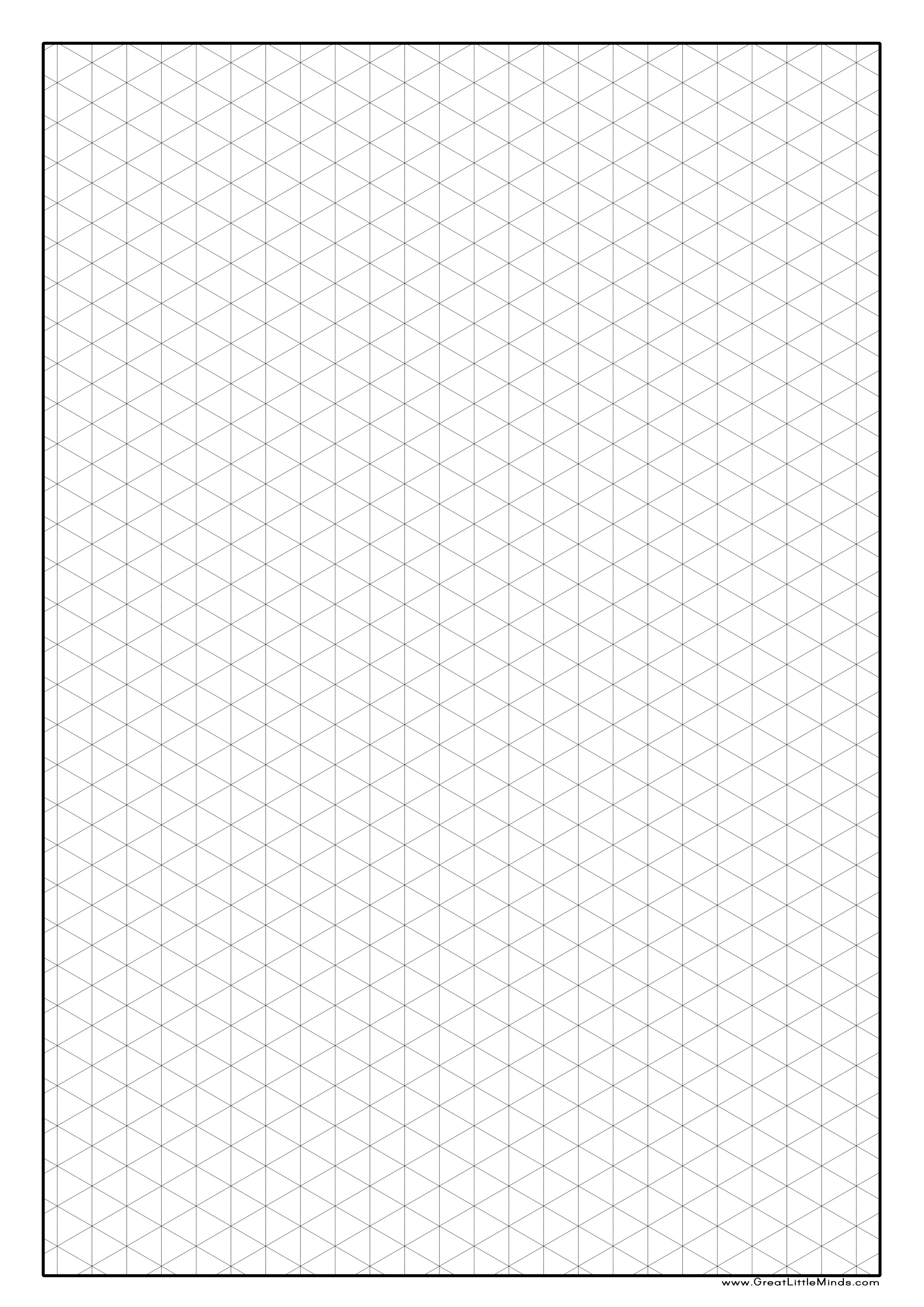 print isometric graph paper