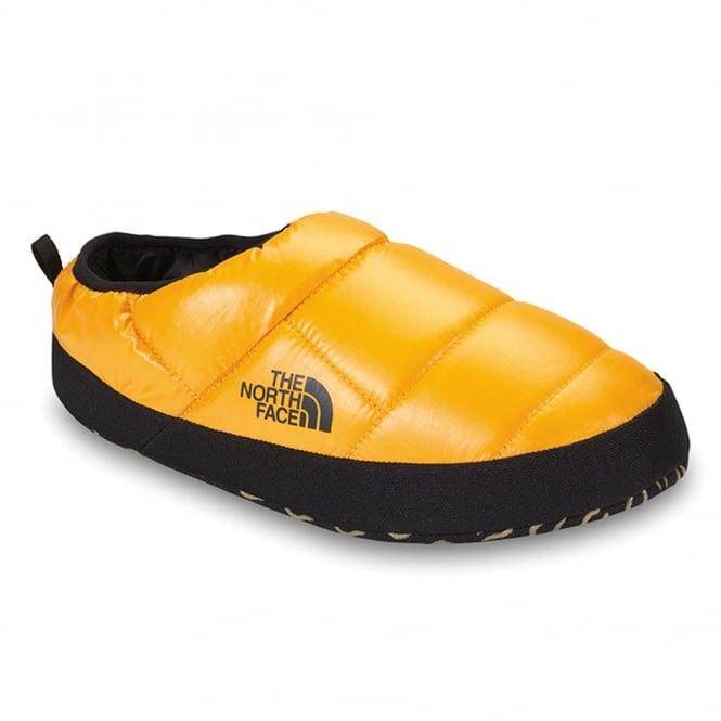 The North Face Mens Tent Mule Slipper, Shiny Yellow