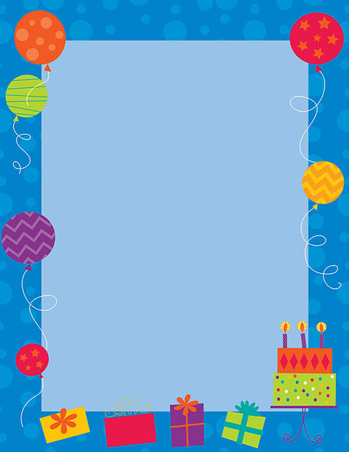 Great Papers - Birthday Party Letterhead
