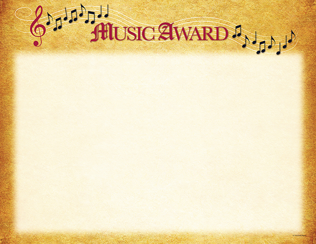 Great Papers - Music Certificate 25 Count