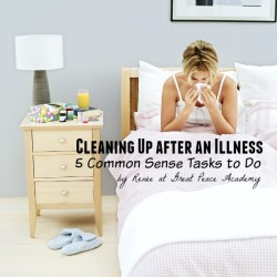 Cleaning up after an illness, 5 Tasks to do.   Great Peace Academy