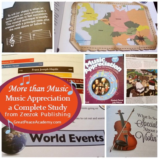 More than Music Music Appreciation, a Complete Study from Zeezok Publishing. | Great Peace Academy