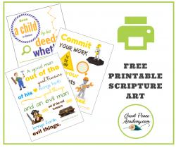 Free Printable Scripture Art for Boys   GreatPeaceAcademy.com #ihsnet #homeschool