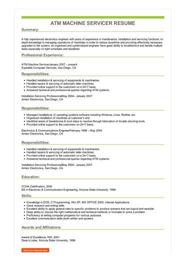 maintenance resume examples