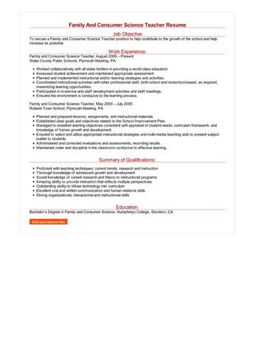sample resume objectives student