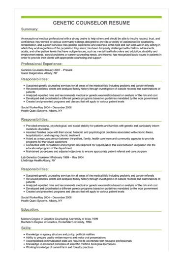 resume with multiple job experience