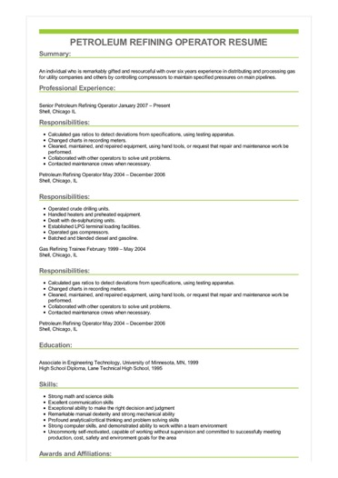 resume job responsibilities