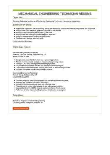 Biomedical Equipment Technician Resume Engineering