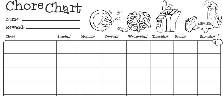 Chore chart for kids Parenting - sample chore chart