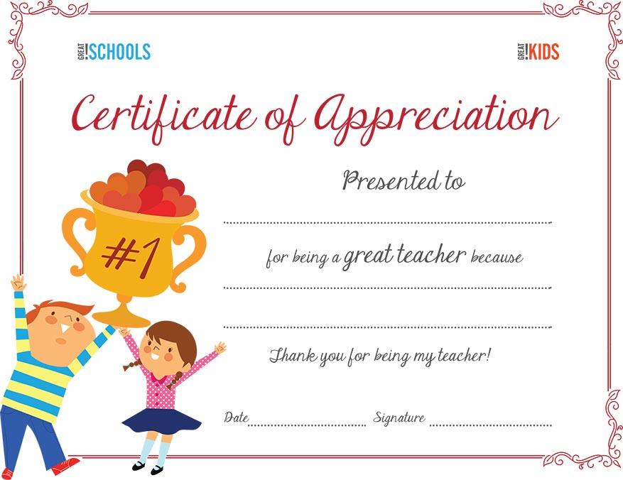 certificate of appreciation for kids - Onwebioinnovate