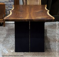 Live Edge Slab Dining Table Uk. Raw Edge Walnut Dining ...