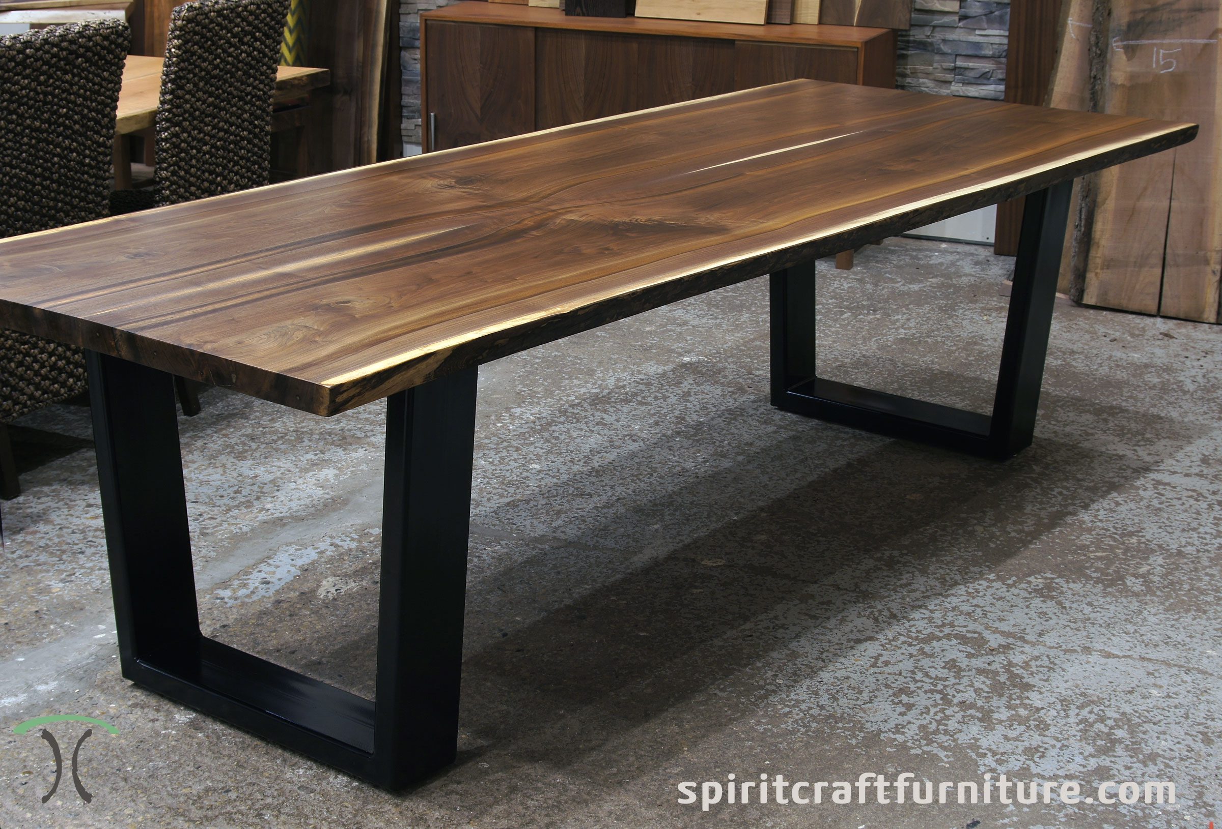 how to make phenomenal edge solid wood slab dining table for your