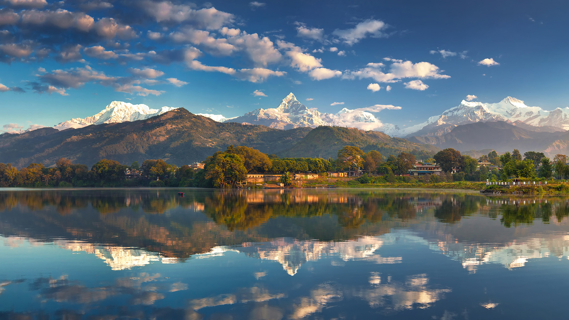 Fall Landscape Wallpaper Fishtail Lodge Pokhara Nepal ⋆ Hotel ⋆ Greaves India