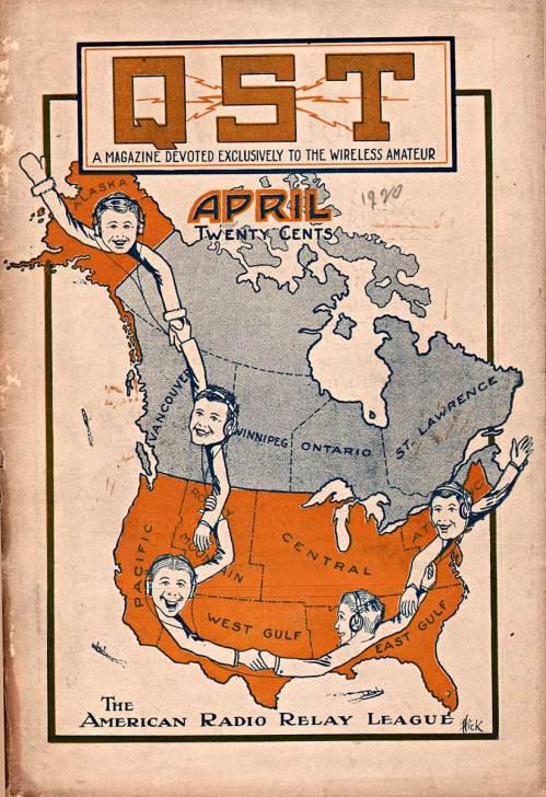QST Magazine cover, April 1920