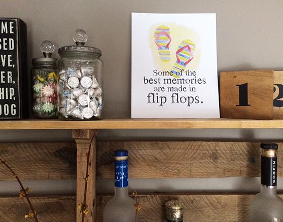 flip flop hanging