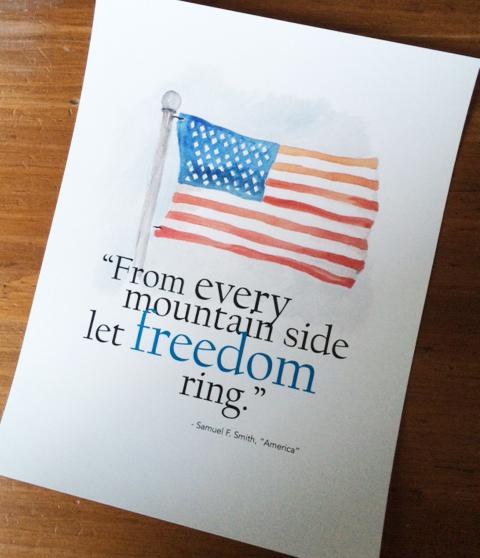 flag print