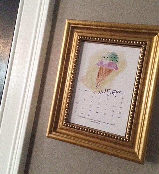 calendar framed