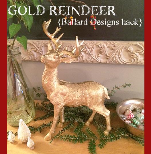 gold reindeer type