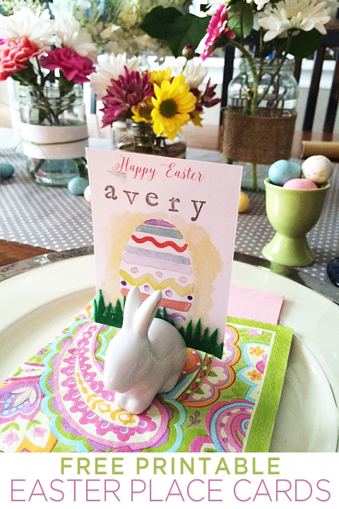 Easter place card detail 2