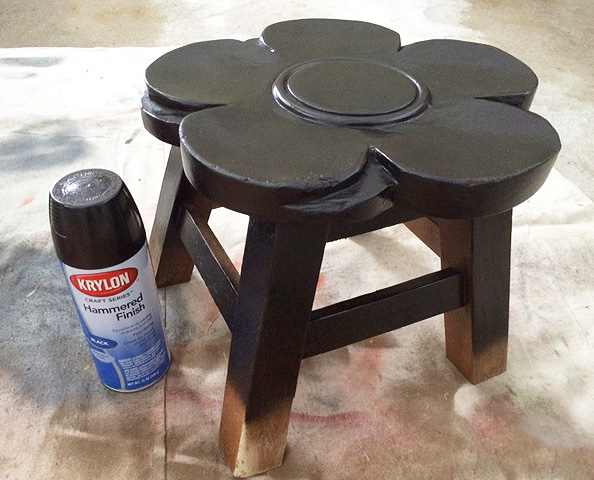 gold dipped stool black