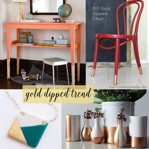 gold dipped trend