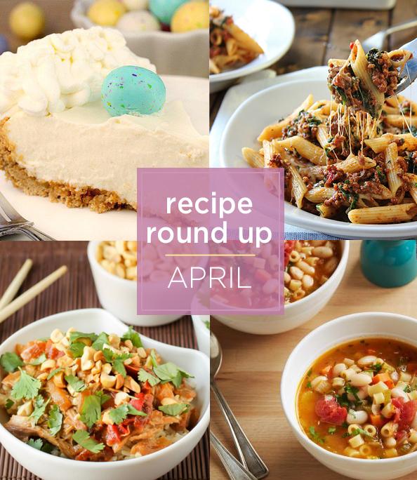 recipe round up April