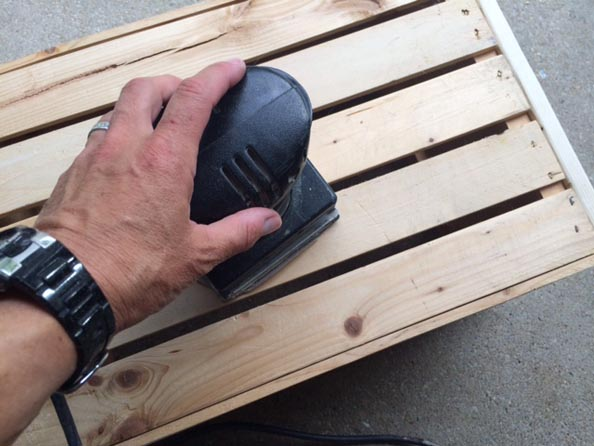 crate sanded