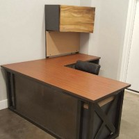 L Shaped Industrial Office Desk Green Clean Designs