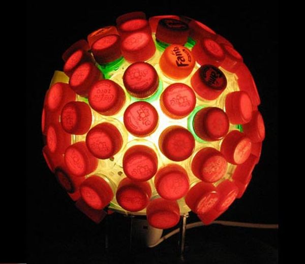 Bottle cap lamp