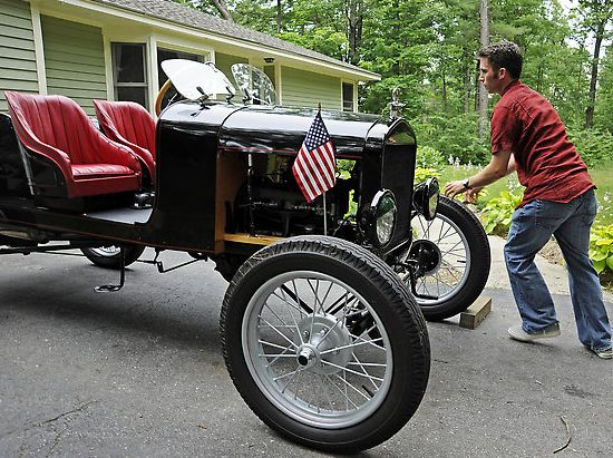 ford model t speedster made from recycled spare pa
