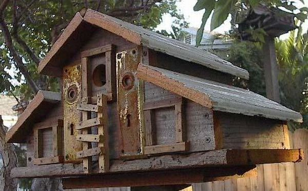 Recycled Birdhouses