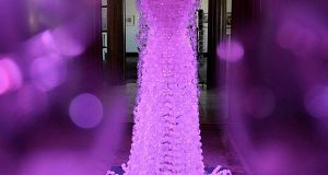 recycled plastic bottles  wedding gown