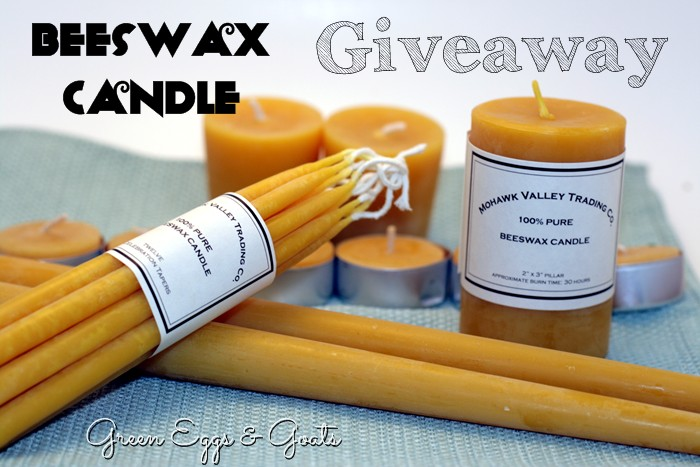 100% beeswax candles from Mohawk Valley Trading Company
