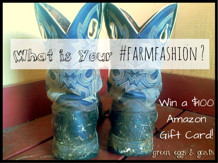 Farm Fashion Giveaway - what is your idea of farm fashion?