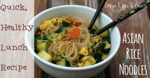 Quick Healthy Lunch Recipe: Asian rice noodles
