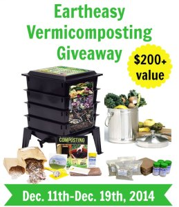 Eartheasy Vermicomposting Giveaway - Green Eggs & Goats