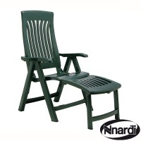 Flora Chair with Footrest in Green