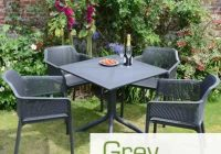Anthracite/Charcoal/Grey Resin Garden Furniture