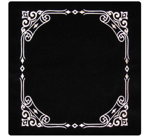 Scroll Border Design Silver Threading Velvet Tallit / Tefillin Bag