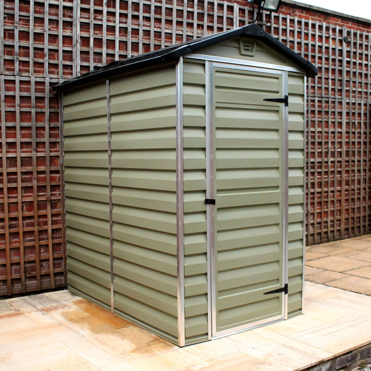 Palram 4 X 6 Plastic Skylight Shed Greenhouse Stores