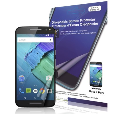 Crystal Oleophobic Screen Protector for Moto X Pure