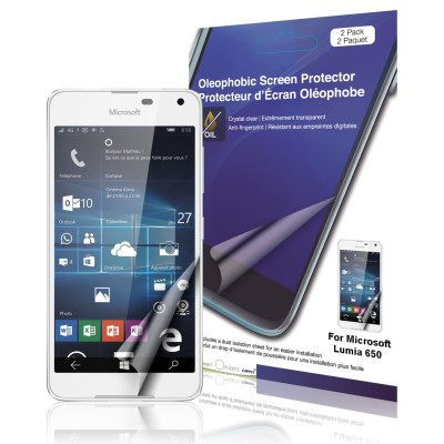 Crystal Oleophobic Screen Protector for Microsoft Lumia 650