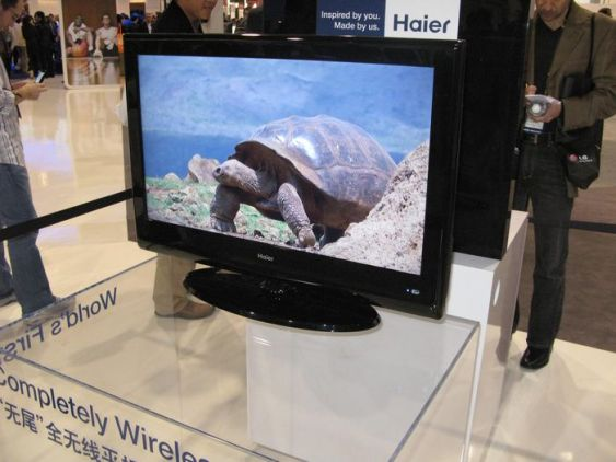 haier wireless tv Haier's Wirelessly Powered TV Demonstrates WiTricity Technology On Higher Powers