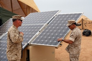 Afghanistan marines solar energy 300x201 Solar Panels Used by U.S. Marines in Afghanistan Cut Fossil Fuel Consumption by 90 Percent
