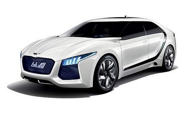 hyundai blue2 Hyundai Blue2   Hydrogen Fuel Cell Concept Vehicle Unveiled in Seoul